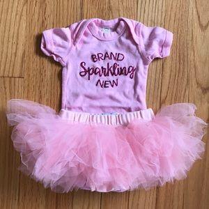 c1813f5db mudpie Bottoms | Adorable Pink Baby Girl Tutu Custom Onesie Nwot ...